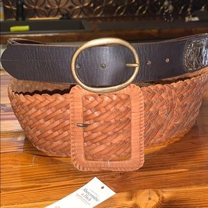 NWT Abercrombie & Fitch brown belt.